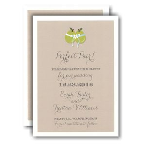 Perfect Pair Save the Date Card Icon