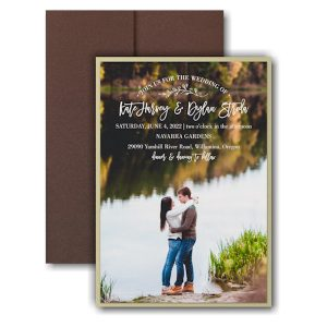 Picturesque Elegance Layered Pocket Wedding Invitation Icon