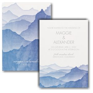 Picturesque Mountains Wedding Invitation Icon