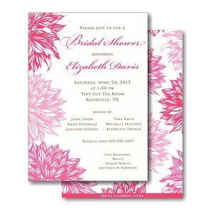 Pink Flowers Bridal Shower Invitation Icon