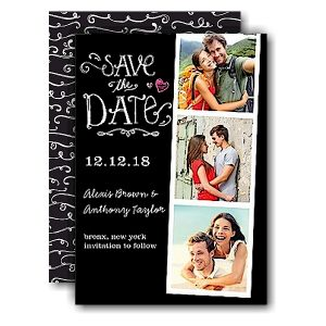 Portraits Black Save the Date Card Icon