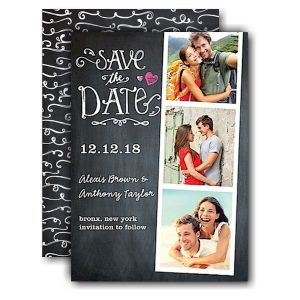 Portraits Chalkboard Save the Date Card Icon