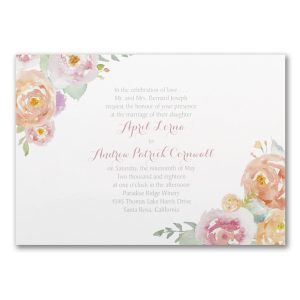 Posy Watercolor Wedding Invitation Icon