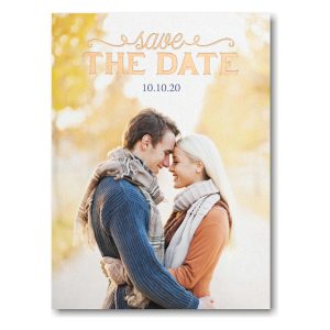 Pure Portrait Save the Date Card Icon