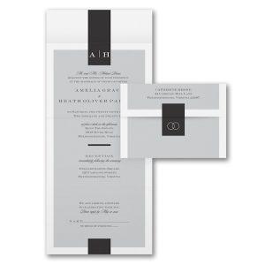 Pure Sophistication Seal 'n Send Wedding Invitation Icon