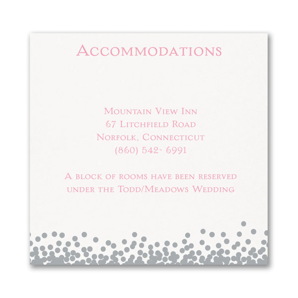 Raining Love Accommodation Card