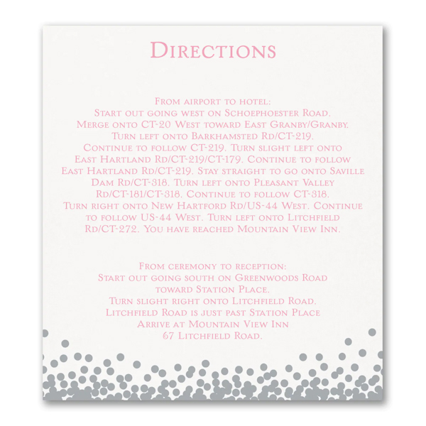 Raining Love Direction Card