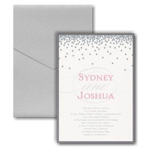 Raining Love Layered Pocket Wedding Invitation Icon