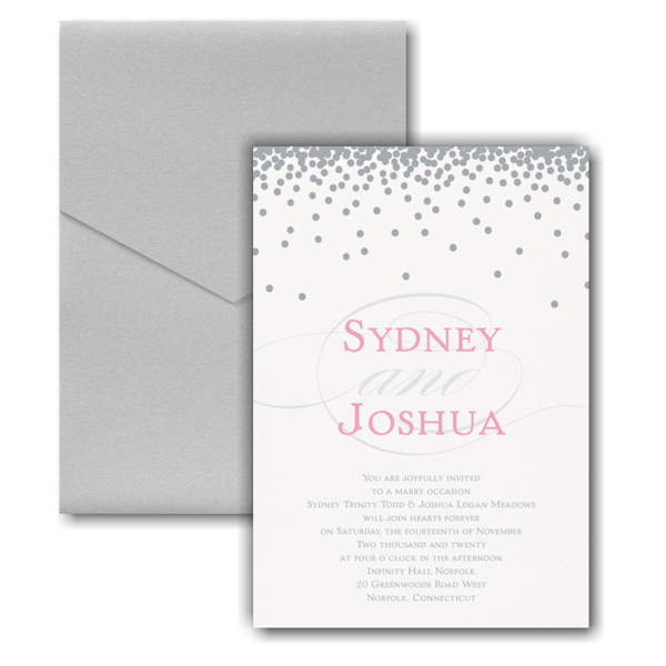 Raining Love Pocket Wedding Invitation Icon