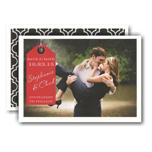Red Tag Photo Save the Date Card Icon