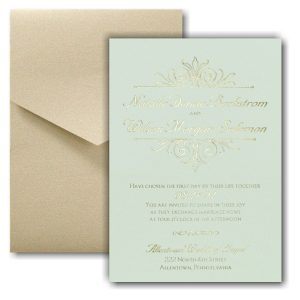 Regal Crest Pocket Wedding Invitation Icon