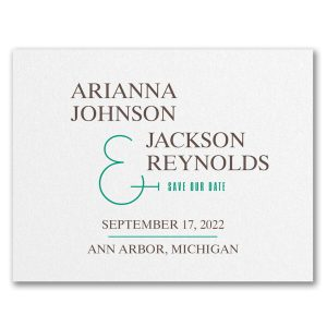 Regal Day Save the Date Card Icon