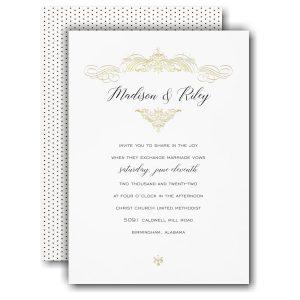 Regal Finish Wedding Invitation Icon