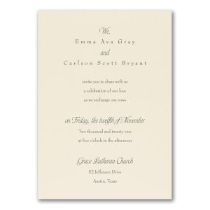 Relaxed Affections Wedding Invitation Icon