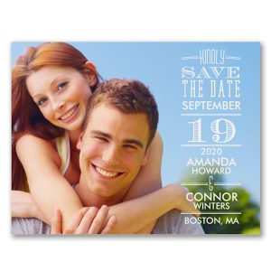 Right Typography Photo Save the Date Card Icon