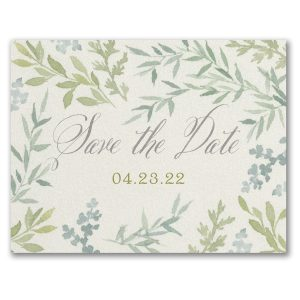 Romance & Greenery Save the Date Postcard Icon