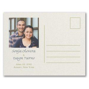 Romance & Greenery Save the Date Postcard alt