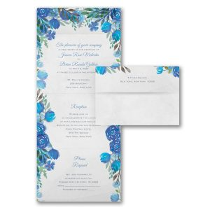Romantic Blooms in Periwinkle Seal 'n Send Wedding Invitation Icon