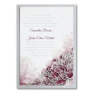 Romantic Blossoms Wedding Invitation Icon