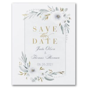 Romantic Floral Save the Date Postcard Icon