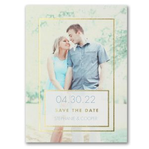 Romantic Frame Save the Date Card Icon