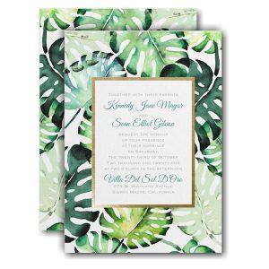 Romantic Palms Wedding Invitation Icon