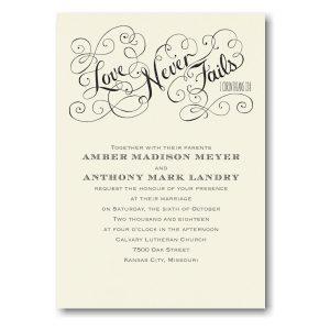 Romantic Promises in Ecru Wedding Invitation Icon
