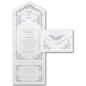 Romantic Roses Seal 'n Send Wedding Invitation Icon