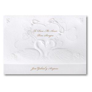 Romantic Swans Wedding Invitation Icon