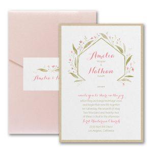 Romantically Fresh Layered Pocket Wedding Invitation Icon