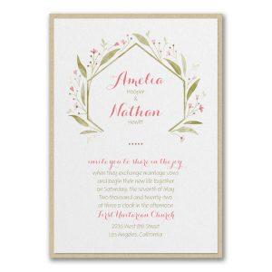 Romantically Fresh Layered Wedding Invitation Icon