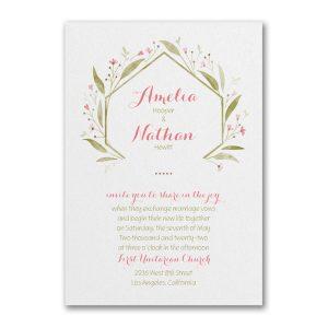 Romantically Fresh Wedding Invitation Icon