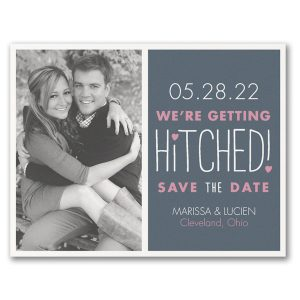 Romantically Hitched Save the Date Magnet Icon