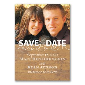Rustic Announcement Save the Date Magnet Icon
