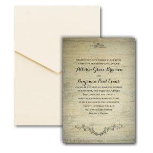 Rustic Charm Pocket Wedding Invitation Icon