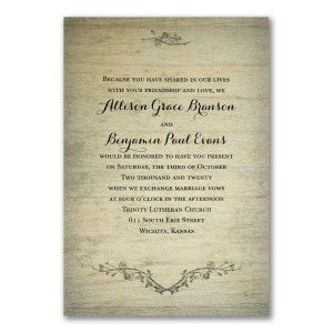 Rustic Charm Wedding Invitation Icon