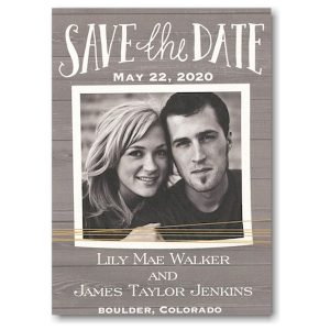 Rustic Yellow Twine Photo Save the Date Card Icon