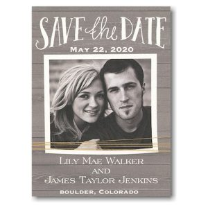 Rustic Yellow Twine Photo Save the Date Magnet Icon