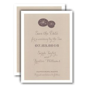 Sand Dollar Beach Save the Date Card Icon