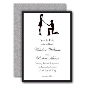 Say Yes Save the Date Card Icon