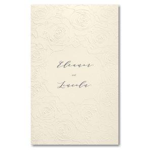 Sculpted Rose in Ecru with Ecru Wrap Wedding Invitation Icon