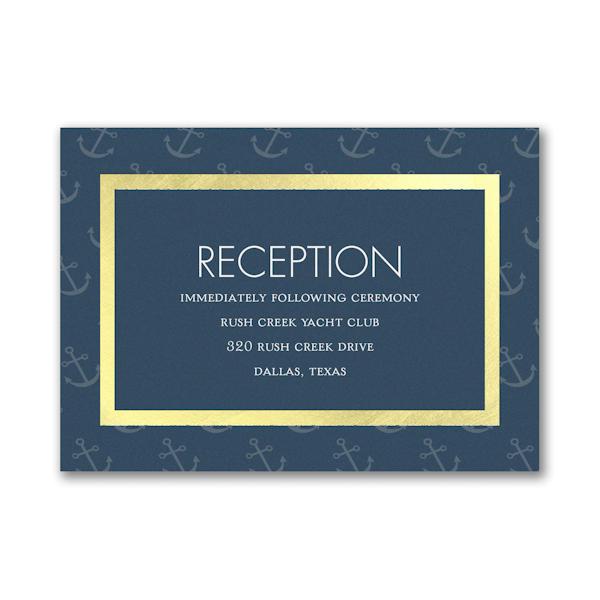 Seafaring Love Reception Card