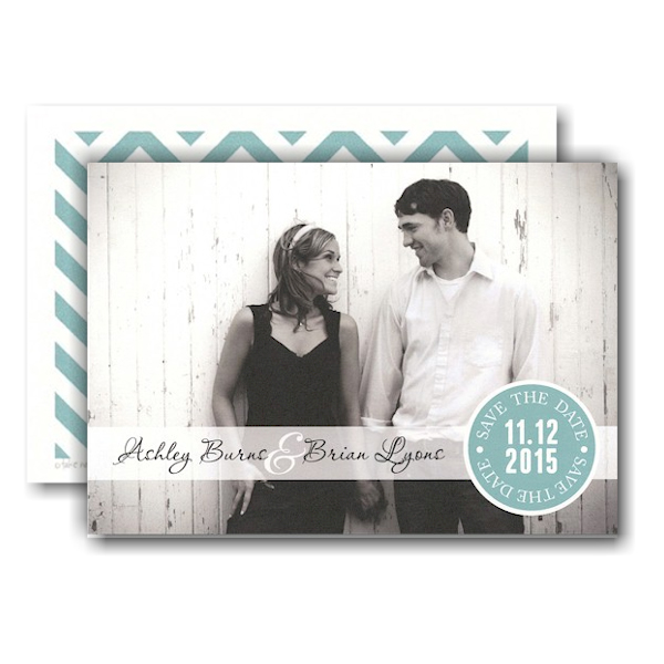 Seal Band Photo Save the Date Card