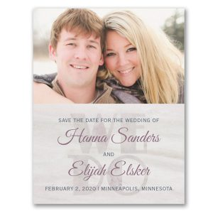Set in Stone Photo Save the Date Card Icon