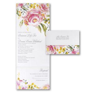 Shimmer Roses Seal 'n Send Wedding Invitation Icon