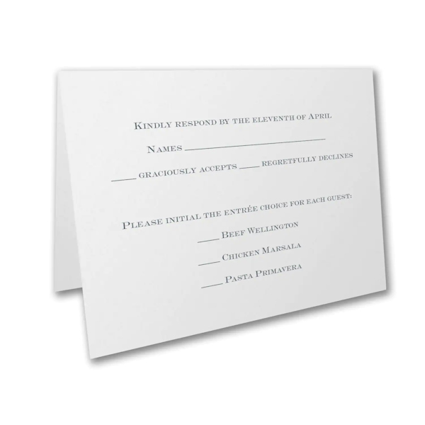 Shimmer Vines Response Card