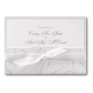 Shimmer Vines Wedding Invitation