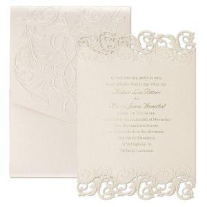 Shimmering Elegance Pocket Wedding Invitation Icon