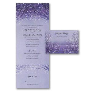 Shimmering Lights Seal 'n Send Wedding Invitation