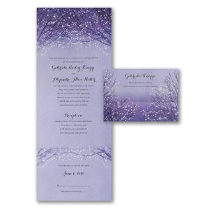 Shimmering Lights Seal 'n Send Wedding Invitation Icon